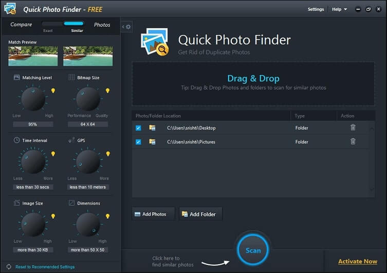 Quick Photo Finder - Find and Remove Duplicate Photos Quickly